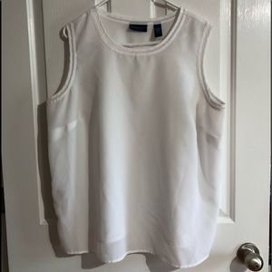 Like new white tank blouse Karen Scott woman  1X
